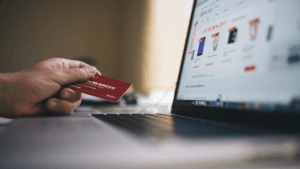 Using credit card for online shopping