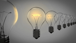 Light bulbs that represent thought leadership and coming up with ideas
