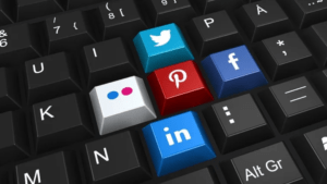 Pinterest and social media keyboard