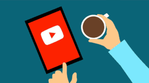 Graphic of browsing YouTube on a tablet