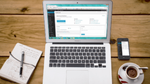 Laptop showcasing B2B marketing automation